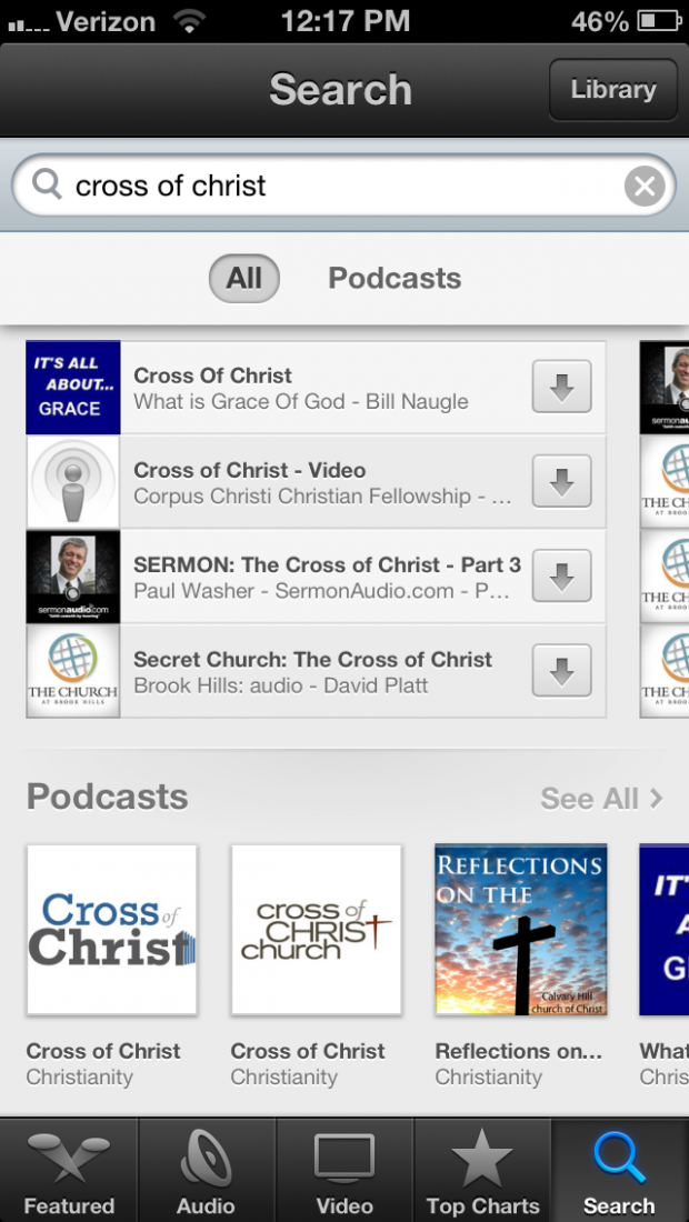 Cross of Christ Podcast in iTunes 3