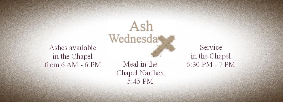 Ash Wednesday Website Slider